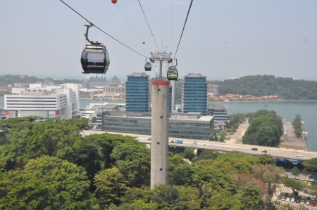 Cable cars from Singapore to Sentosa  photo