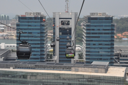 Cable cars from Singapore to Sentosa