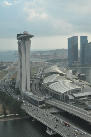 standalone: SINGAPORE - AUGUST 16  The Marina Bay Sands Resort Hotel on August 16, 2012 in Singapore  It is an integrated resort and the world s most expensive standalone casino property at S 8 billion