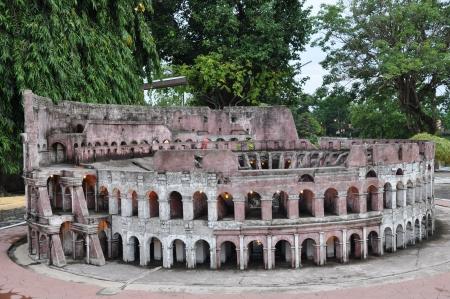 siam: Colosseum Replica at Mini Siam in Pattaya, Thailand Stock Photo
