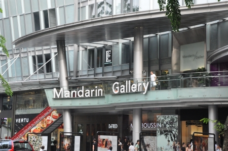 SINGAPORE - AUGUST 16  Mandarin Gallery on Orchard Road in Singapore on August 16, 2012  It is part of Mandarin Orchard Singapore a five-star hotel located at 333 Orchard Road in Singapore  Stock Photo - 21755552