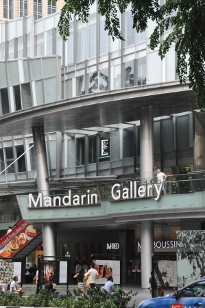 SINGAPORE - AUGUST 16  Mandarin Gallery on Orchard Road in Singapore on August 16, 2012  It is part of Mandarin Orchard Singapore a five-star hotel located at 333 Orchard Road in Singapore  Stock Photo - 21755554