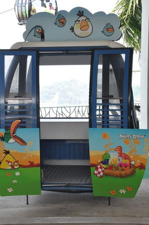 Cable car from Singapore to Sentosa Island