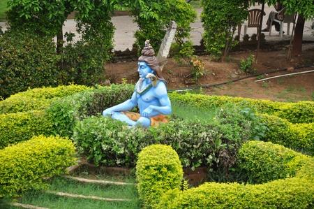 shree: Statue of Hindu Lord Krishna at Shree Swaminarayan Gurukul in Hyderabad, India Stock Photo