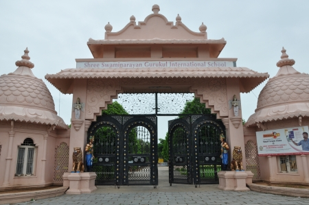 andhra: HYDERABAD, INDIA - JULY 26  Shree Swaminarayan Gurukul in Hyderabad, Andhra Pradesh in India, as seen on July 26, 2012  It is an International boarding school with traditional values and education