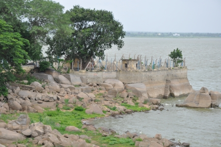 Osman Sagar Lake in Hyderabad, India photo