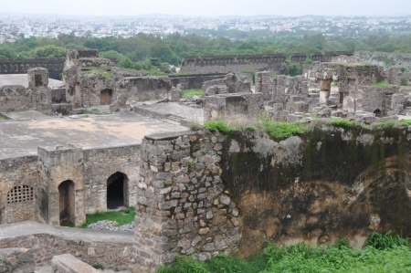 Golconda Fort in Hyderabad, India photo