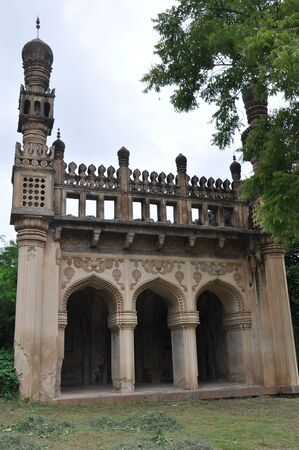 mourn: Qutb Shahi Tombs in Hyderabad, India