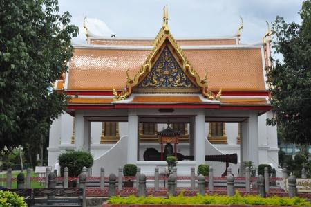 Wat Benchamabophit  Marble Temple  in Bangkok, Thailand photo