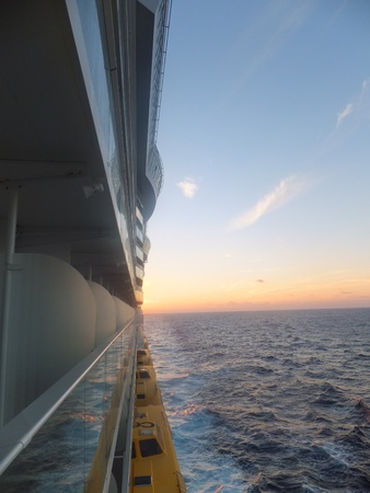 Sunset from a Cruise Ship photo