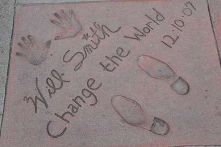 HOLLYWOOD, CA - DECEMBER 7   Footprints and hand prints of Will Smith at the Kodak theater pictured on December 7, 2012 in Hollywood, California, USA