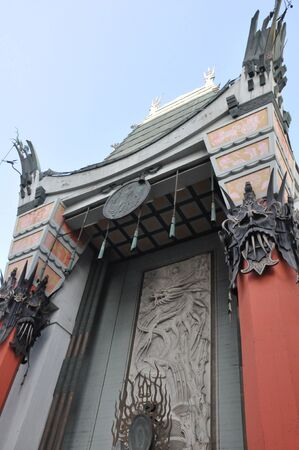 LOS ANGELES, CA - DEC 7: Historic Graumans Chinese Theater in Los Angeles, CA on December 7, 2012. Opened in 1922, this Hollywood landmark is on the Hollywood Walk of Fame and attracts many visitors.