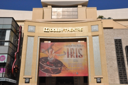 televised: HOLLYWOOD, CALIFORNIA - DECEMBER 7  Dolby Theatre  Kodak Theatre  is home of Academy Awards  popularly known as the Oscars  as seen in Los Angeles  Hollywood  on December 7, 2012  Editorial