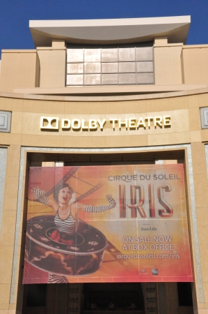 kodak: HOLLYWOOD, CALIFORNIA - DECEMBER 7  Dolby Theatre  Kodak Theatre  is home of Academy Awards  popularly known as the Oscars  as seen in Los Angeles  Hollywood  on December 7, 2012  Editorial