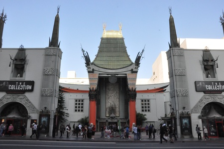 LOS ANGELES, CA - DEC 7  Historic Grauman s Chinese Theater in Los Angeles, CA on December 7, 2012  Opened in 1922, this Hollywood landmark is on the Hollywood Walk of Fame and attracts many visitors