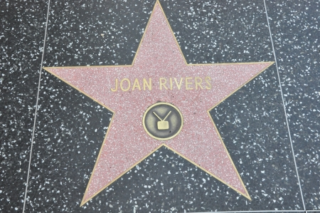 walk of fame: HOLLYWOOD - DECEMBER 7  Joan River s star on Hollywood Walk of Fame on December 7, 2012 in Hollywood, California  This star is located on Hollywood Blvd  and is one of 2400 celebrity stars  Editorial