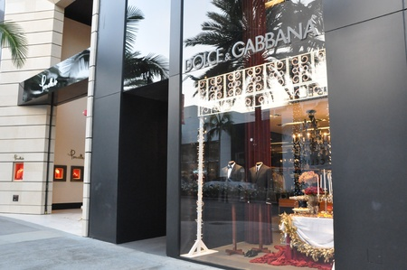 BEVERLY HILLS, CALIFORNIA - DECEMBER 7  Dolce   Gabbana store at Rodeo Drive as seen on December 7, 2012 in Beverly Hills, California  There are more than 100 world-renowned boutiques in this area