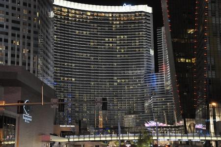 aria: Aria Hotel and Casino in Las Vegas, Nevada Editorial