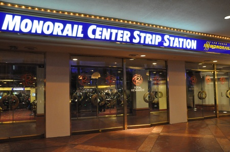 Monorail Center Strip Station in Las Vegas