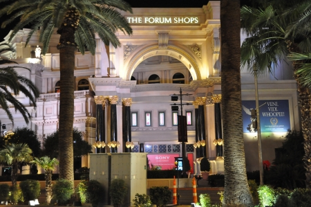 LAS VEGAS - DECEMBER 2: Forum Shops in Las Vegas on December 2, 2012. The venue includes more than 160 shops and haute couture boutiques, as well as 11 gourmet restaurants.