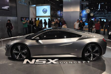 acura: LOS ANGELES - DECEMBER 8: Acura NSX at the 2012 Los Angeles Auto Show as seen on December 8, 2012 in Los Angeles, California.