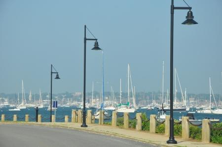 watercraft: Harbor in Newport, Rhode Island