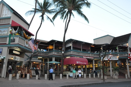 dockside: Lahaina Waterfront in Maui, Hawaii Editorial
