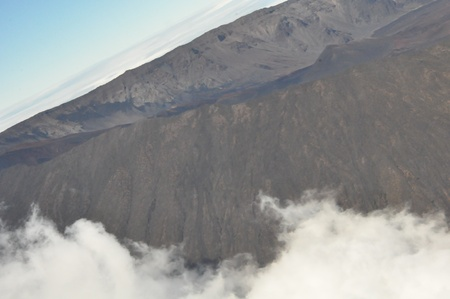 View of Haleakala Volcanic Crater in Maui, Hawaii photo