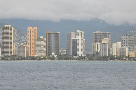 View of Honolulu in Hawaii photo