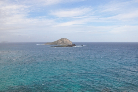 Manana and Kaohikaipu Islands, commonly known as Rabbit and Turtle Islands, off the coast of Oahu, Hawaii photo