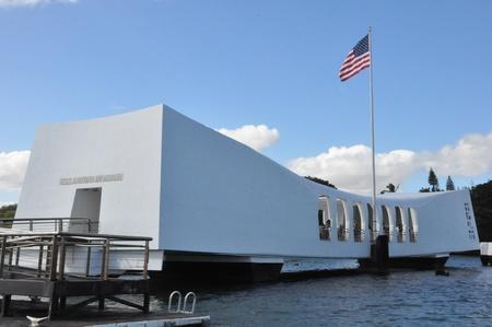 USS Arizona Memorial at Pearl Harbor in Honolulu, Hawaii