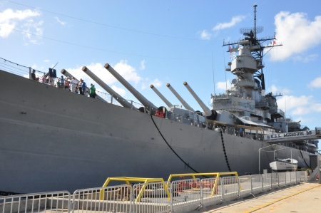 USS Missouri Battleship at Pearl Harbor in Hawaii Redakční