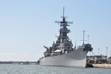 USS Missouri Battleship at Pearl Harbor in Hawaii Editorial