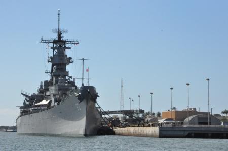 USS Missouri Battleship at Pearl Harbor in Hawaii