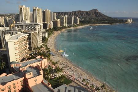 Waikiki Beach in Honolulu, Hawaii photo