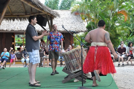 Cultural activities at the Polynesian Cultural Center in Laie, Oahu, Hawaii