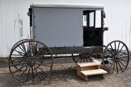 amish buggy: Amish Carriage Stock Photo