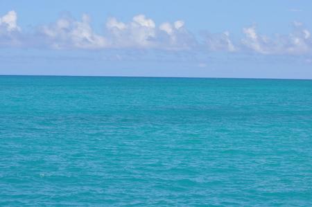 pristine corals: View of Atlantic Ocean Stock Photo