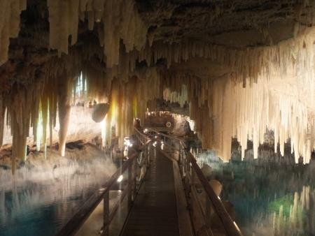 stalagmite: Crystal Caves in Bermuda