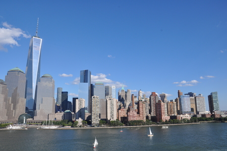 world trade center: Lower Manhattan Skyline with One World Trade Center