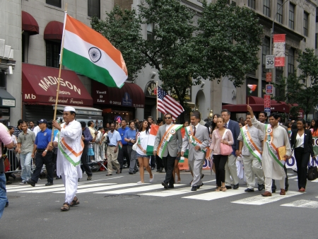 19's: NEW YORK - AUGUST 19  India s 60th Independence Day in New York, as seen on August 19, 2007  It was organised in Manhattan by the Federation of Indian Associations  FIA