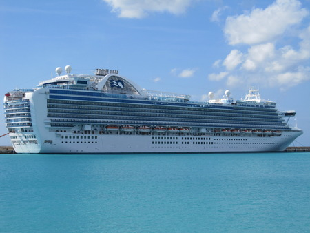 BARBADOS - DEC 24  Ruby Princess, a Grand-class cruise ship owned by Princess Cruises, seen docked in Antigua, on December 24, 2009  She was built in 2008 in Italy