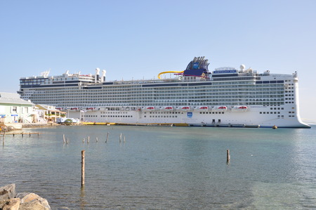 MIAMI, FLORIDA - SEPT 7  Norwegian Epic, docked in Roatan, Honduras, as seen on September 7, 2010  When built in 2010, it was the third largest cruise ship in the world