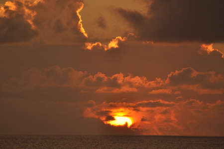 Sunset over the Atlantic Ocean photo