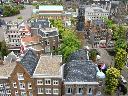 HAGUE, NETHERLANDS - AUGUST 28  Madurodam in the The Hague, Netherlands, as seen on August 28, 2008  It is a miniature park and tourist attraction featuring perfect 1 25 scale model Dutch replicas