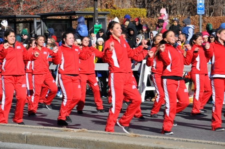 STAMFORD, CONNECTICUT - NOV 24  The 20th annual UBS Thanksgiving Parade Spectacular, in Stamford, Connecticut on November 24, 2013  The event drew around 100,000 people