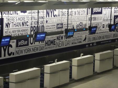 jfk: Jetblue Terminal at JFK Airport in New York Editorial