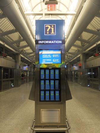 jfk: JFK Airport Airtrain Station in New York Editorial