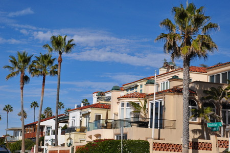 Pacific and Mission Beach areas in California Editorial