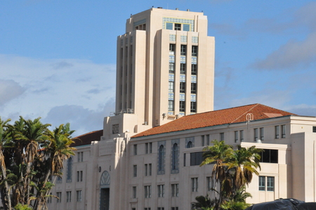 city and county building: The Historic San Diego City and County Administration Building in California